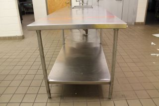 Commercial Stainless Steel Food Prep Table 108 x 36 Shelf Two 18x18x10 Sinks