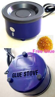 Professional Hair Extension Hot Glue Pot Keratin Glue Stove with Free GULE