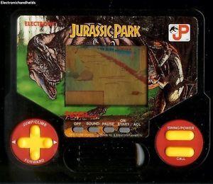 Tiger Electronic Jurassic Park Dinosaur Handheld LCD Toy Game 1990s Dino ★