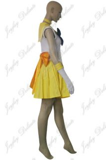 Sailor Moon Sailor Venus Mina Aino Cosplay Costume Halloween Clothing XS XXL