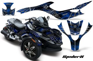 Can Am BRP Spyder RS Graphics Kit Decals Spiderx BLB