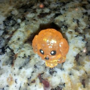 "Squinkies Glitter RARE ""Clear Orange Glitter Sparkle"" Poodle Dog RARE New"