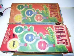 Two Box Sets Noma Glow Ray Christmas Tree Lighted G14 Bulb Ice Lights