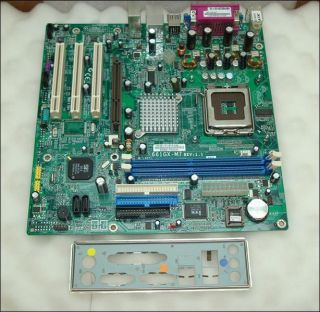 Acer ECS 661GX M7 Rev 1 1 Socket 775 Motherboard with I O Plate