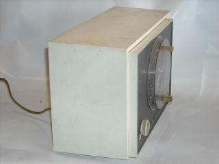 Vintage Antique RCA Victor Tube Clock Radio White RHD13 Tested Working