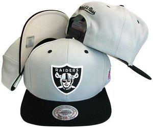 a780a0319ff ... Oakland Raiders Snapback Hat Mitchell Ness Gray Black NC97Z ...