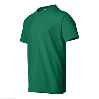 Hanes ComfortBlend EcoSmart Youth T Shirt Kelly Green XS