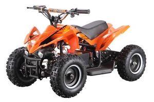 Kids Ride on Toy Dirt Quad ATV 4 Wheeler Battery Powered 36V Electric Orange