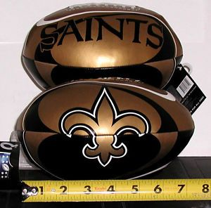 NFL New Orleans Saints Vinyl Soft Squeeze Football Toy Plush Softee Kid Ball 8""