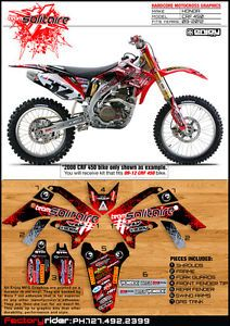 2009 2012 Honda CRF 450 Solitaire Motocross Graphics Dirt Bike Graphics Deco