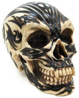 Tribal Graphic Design Vampire Skull Figure Statue