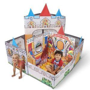 Play Tent Castle Adventure Kids Toy Indoor Outdoor Fun Children Game Portable