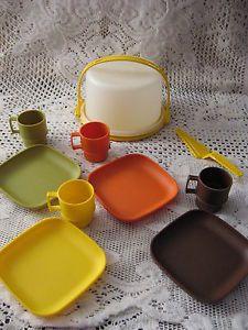 Vintage Mini Party Cake Children Dishes Tupperware Toys