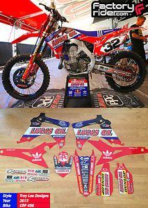 2013 Honda CRF 450 Lucas Oil Troy Lee Designs Graphics Made by Enjoy Mfg