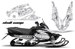 Yamaha Vector Graphic Kit AMR Racing Snowmobile Sled Wrap Decal 12 13 Skull Camo