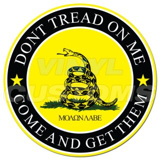 "3"" Dont Tread on Me Sticker Decal Molon Labe Decal Sticker"