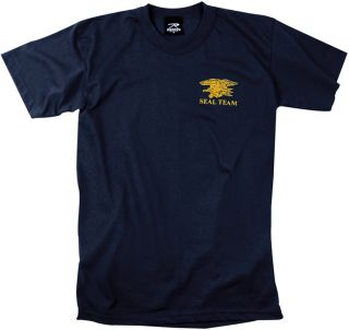 Navy Blue Design Officially Licensed 1 Sided Navy Seals Logo Graphic T Shirt