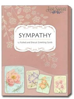 Heartfelt Sympathy Jane Shasky Greeting Cards Box of 12