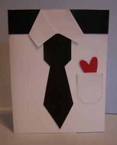 Stampin Up Handmade Greeting Card Male Shirt Tie PY Lot