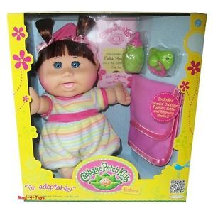 Cabbage Patch Kids Babies Doll Brown Hair Blue Eyes