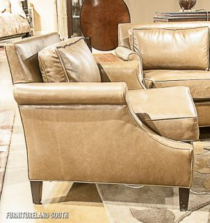 Bolier Company Kipling Mink Tan Leather Sofa and Chair Set