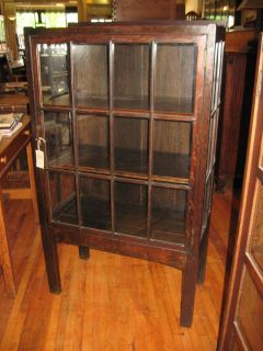 Antique Mission Oak Small China Cabinet Display Case Michigan Chair Co GR Rapids