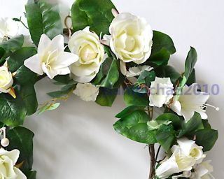 Plastic Vine Artificial Lily Garland Silk Flower Vine Wedding Garden Decor 74 8""