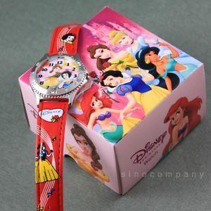 Free SHIP Disney Princesses Snow White Children Wrist Watch Kids Gift Girl M38