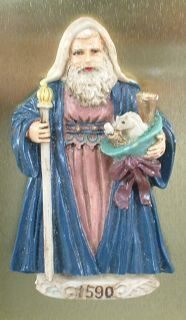 House of Lloyd 1590 Old World Santa Christmas Magnet Dated 1992