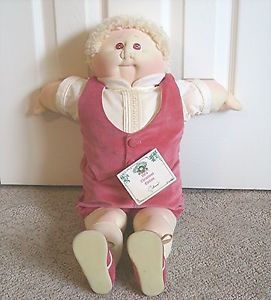 """1984 Cabbage Patch Kids Soft Sculpture Christmas Edition Boy Doll """"Chris"""" NWT"""