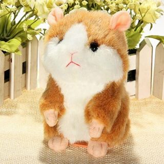 Cute Mimicry Pet Speak Talking Record Electronic Hamster Plush Toy Birthday Gift