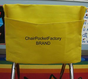 "Set of 30 Small Chair Pockets Seat Desk Sack Any Color Fits Chairs 11"" Wide"