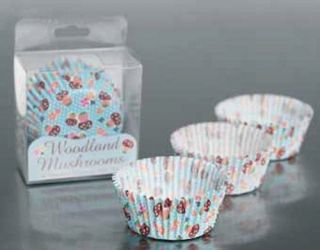 Pack of 60 Fancy Cupcake Cake Cases Woodland Birthday Party Summer Fete