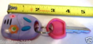 Small Barbie Electronic Car Key Ring 4 Wheeler Jeep Girls Kids Toy Noises Pink