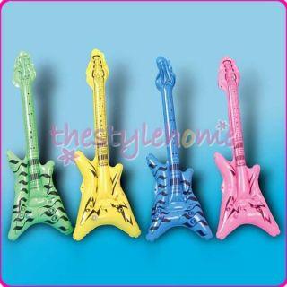 Children Rock Star Party Inflatable V Shape Guitar Toys Random Color Party Favor