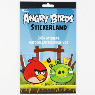 Rovio Angry Birds Sticker Book 4 Page Over 345 Stickers Kids Pig Bird Licensed