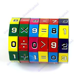New Children Kids Mathematics Numbers Magic Rubiks Cube Toy Puzzle Game Gift