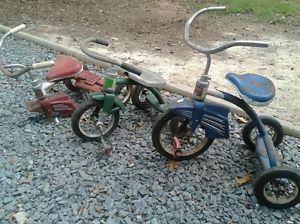 3 Vintage Murray Tricycles Bicycle Bike Kid's Toy Antique 1960s Collectable