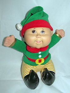 CPK Cabbage Patch Kids Christmas Holiday Santa's Helper Elf Baby Doll Plush Toy