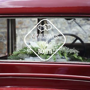 Just Married Car Decal Personalized Wedding Sticker Bridal Party Supplies