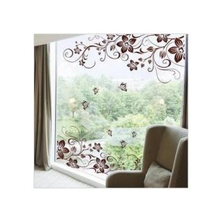 DIY Vine Flower Butterfly Removable PVC Wall Sticker Home Decor Art Decals WHM