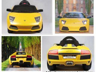 Yellow Mini Lamborghini Ride on Toy Battery Operated Car for Kids