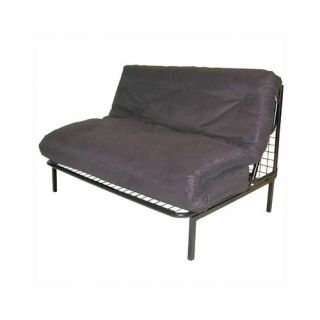 Elite Products Gray Modern Loft E Frame Futon and Mattress