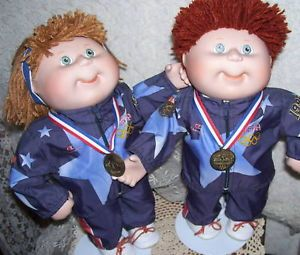 Cabbage Patch Kids Olympic Porcelain Dolls CPK by Danbury Mint