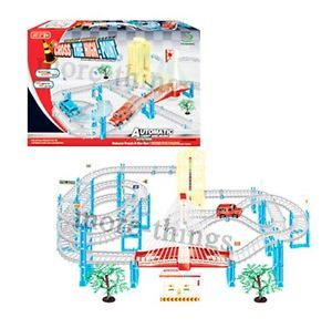 Track Racing Cars with Light Music Boys Kids Toys Slot Car Set 47cm x 90 cm 6202