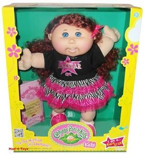 "Cabbage Patch Kids 14"" Doll Rock Star with Red Hair Blue Eyes"