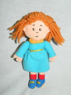 "Original 1999 Caillou 8"" Plush Sister Rosie Rag Doll Cinar Stuffed"