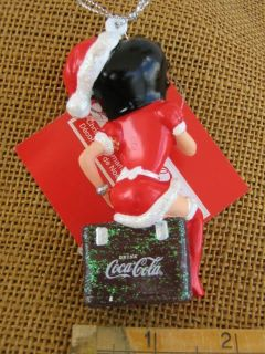Kurt Adler Betty Boop on Coca Cola Cooler Ornament