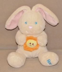 Kids II 2 Cream Bunny Rabbit Rae You Are My Sunshine Musical Baby Plush Toy