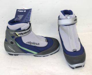 Alpina TR 50L Womens NNN Cross Country Ski Boots Size 38 0 Indigo New Display